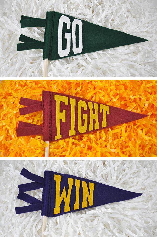 Football mini pennants