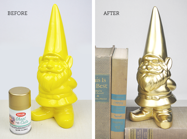 Golden Gnome before and after