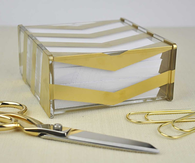 Gold Chevron Acrylic Box