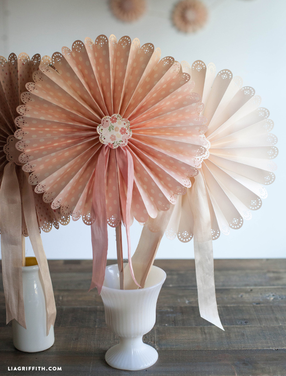 If the treats can't cool you down, you can make your own fan! Check out this lovely DIY Fan from Lia Griffith.
